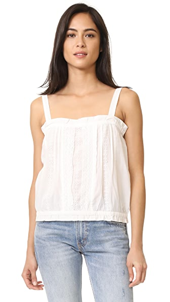 Current/Elliott The Lace Tank - Star White
