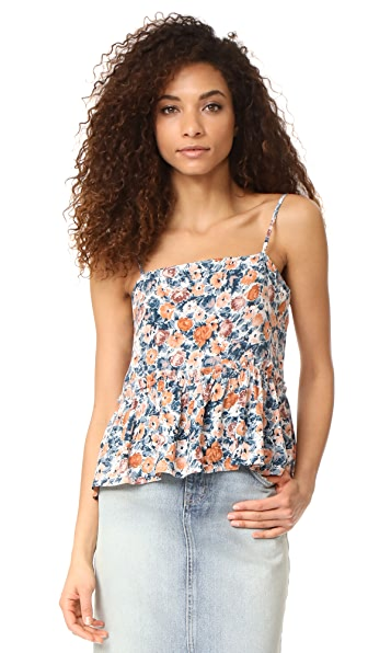 Current/Elliott The Strappy Tank In Dusty Bowl Floral