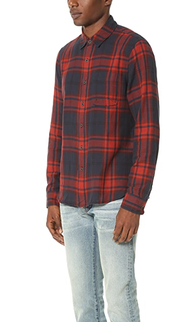 Current/Elliott Classic Fit Single Pocket Shirt