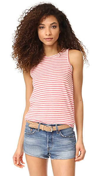 Current/Elliott The Muscle Tee In Red Anchor Stripe