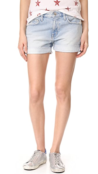 Current/Elliott The Boyfriend Shorts - Alta Destroy with Flip Hem