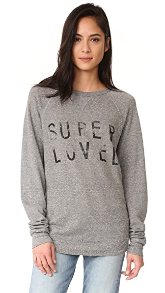 Current/Elliott The Oversized Sweatshirt - Heather Grey Super Loved