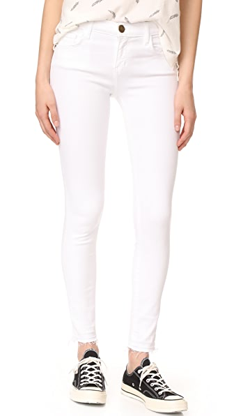 Current/Elliott Stiletto Jeans - Sugar with Released Hem