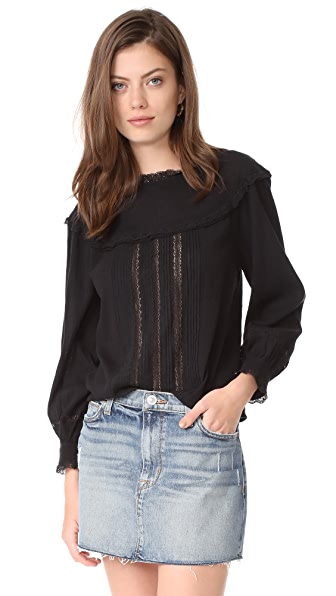 Current/Elliott The Whittier Blouse In Black