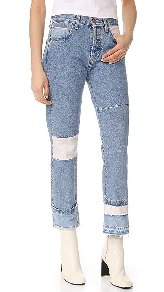 Current/Elliott The DIY Original Straight Jeans - Mojave