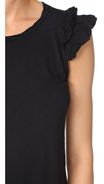 Current/Elliott The Double Ruffle Muscle Tank