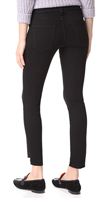 Current/Elliott The Stiletto Jeans with Uneven Hem