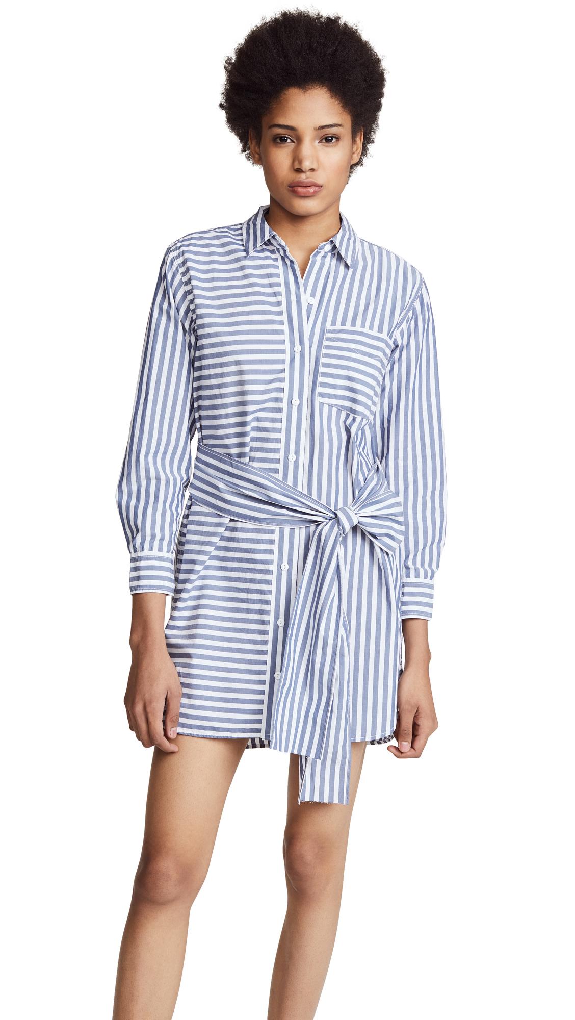 Current/Elliott The Alda Stripe Shirt Dress