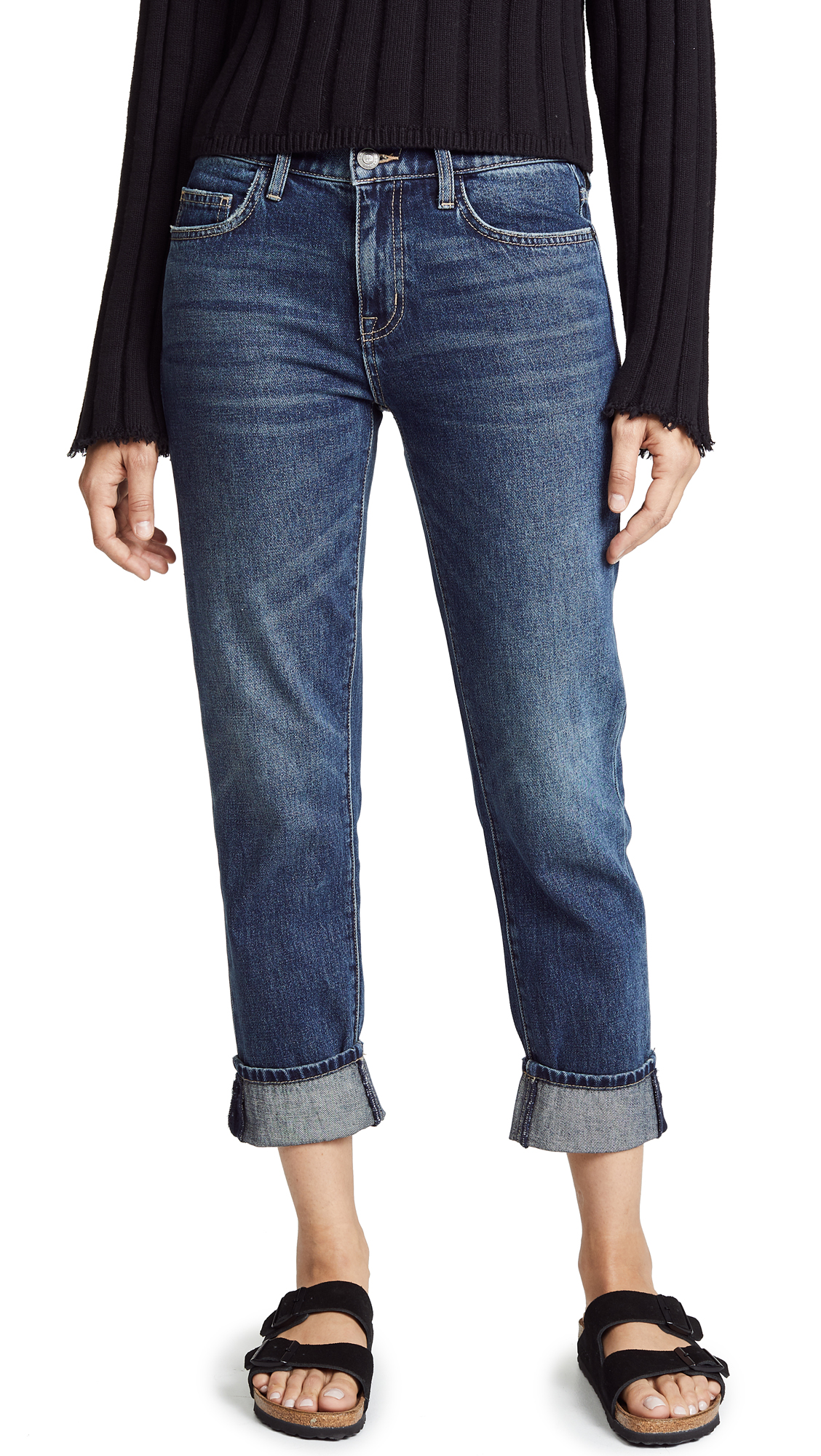 Current/Elliott The Fling Jeans - 1 Year Worn Rigid Indigo