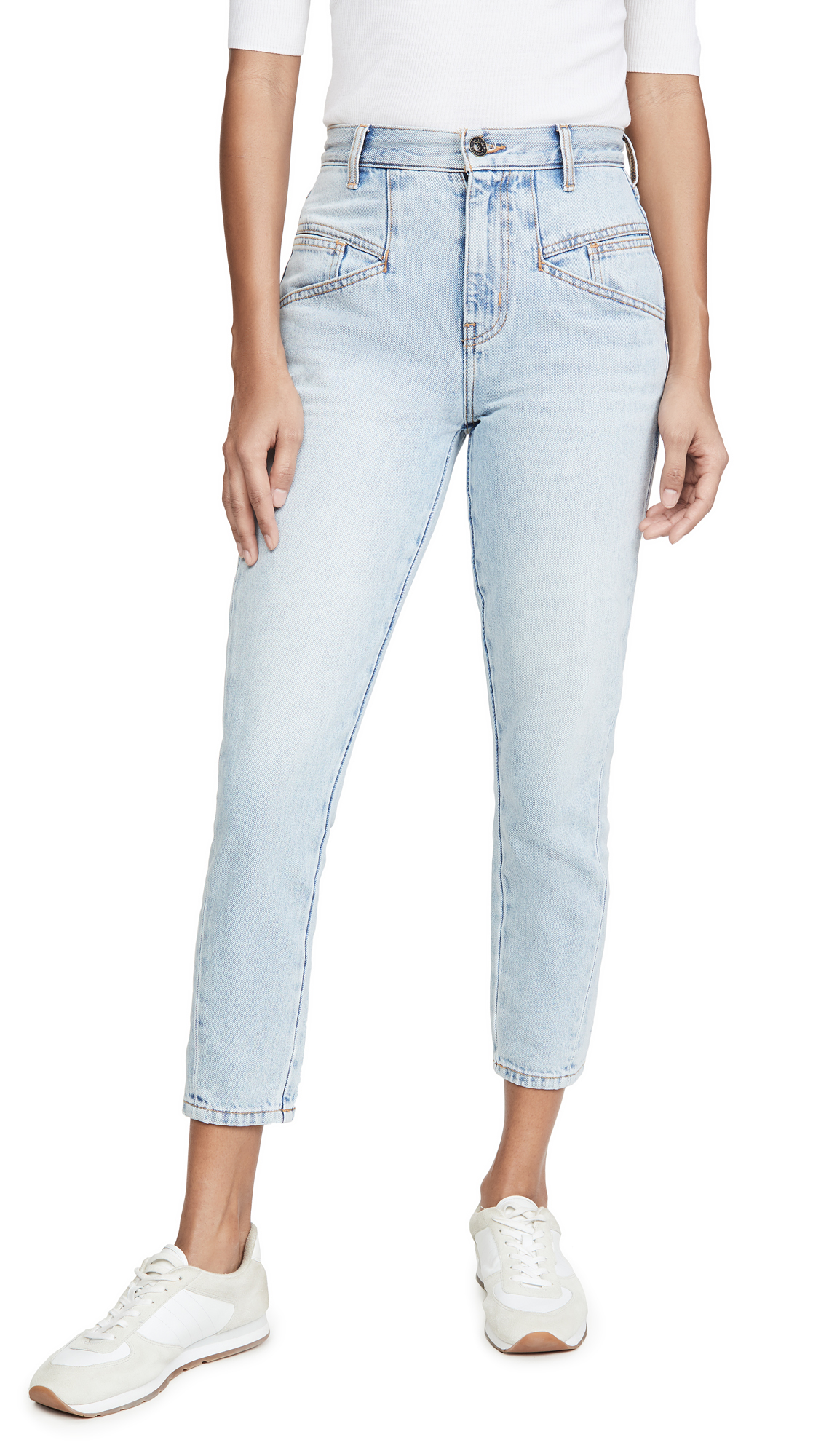 Buy Current/Elliott online - photo of Current/Elliott The Helix Cropped Jeans
