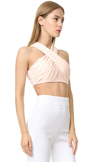Cushnie Et Ochs Front Cross Crop Top
