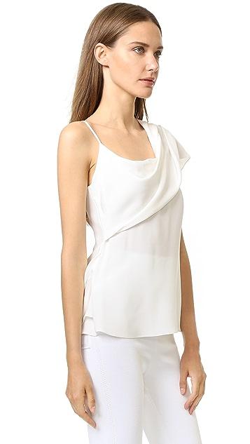 Cushnie Et Ochs Asymmetrical Drape Top