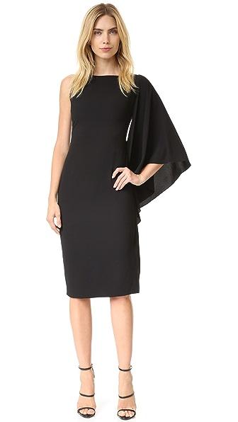 Cushnie Et Ochs Side Ruffle Asymmetrical Dress