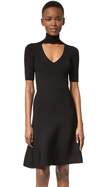 Cushnie Et Ochs Short Sleeve Knit Dress