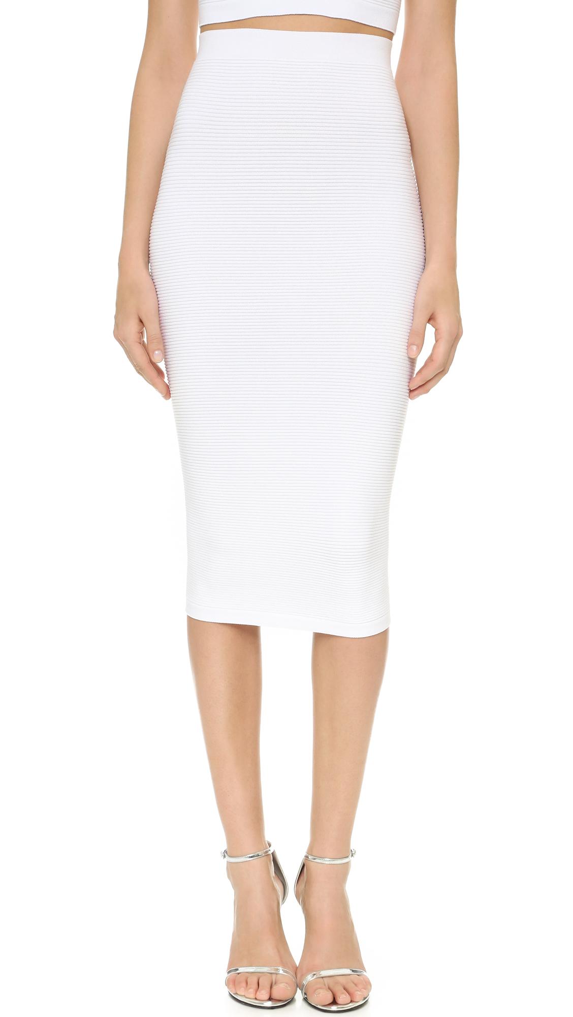 Cushnie Et Ochs Knit Pencil Skirt - White