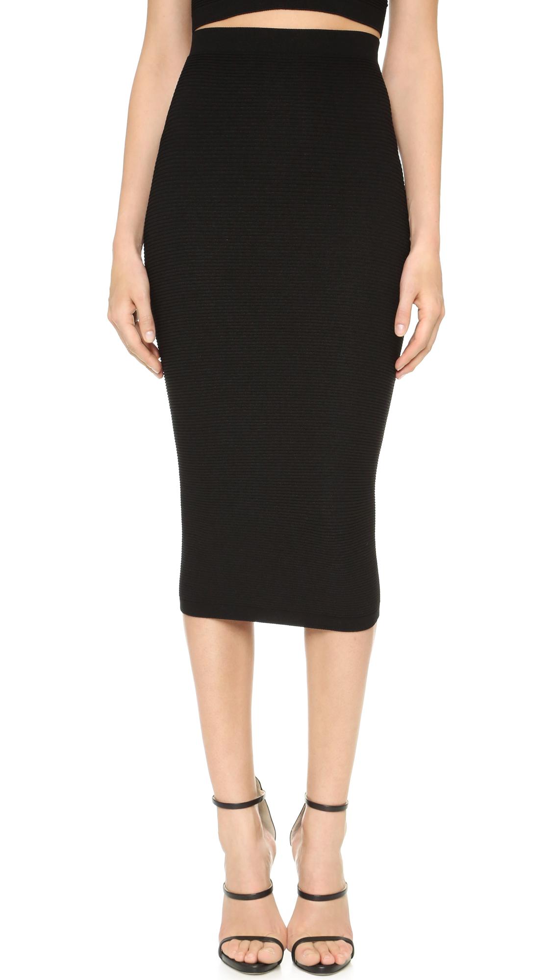 Cushnie Et Ochs Knit Pencil Skirt - Black