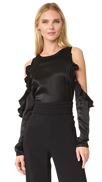 Cushnie Et Ochs Cold Shoulder Top - Black