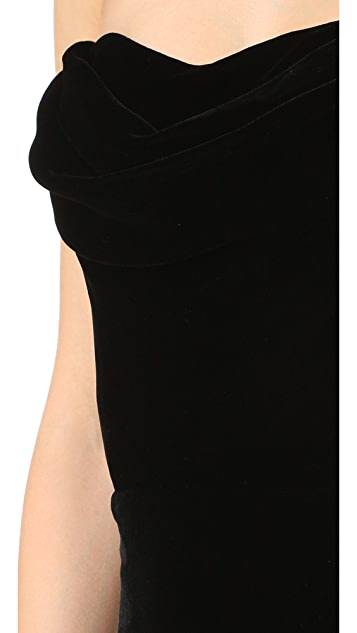 Cushnie Et Ochs Strapless Velvet Dress