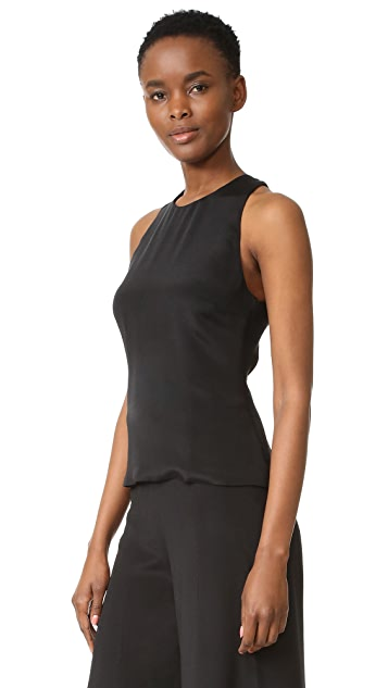 Cushnie Et Ochs Lace Up Back Top