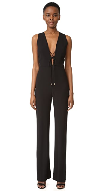 Cushnie Et Ochs Lace Up Jumpsuit