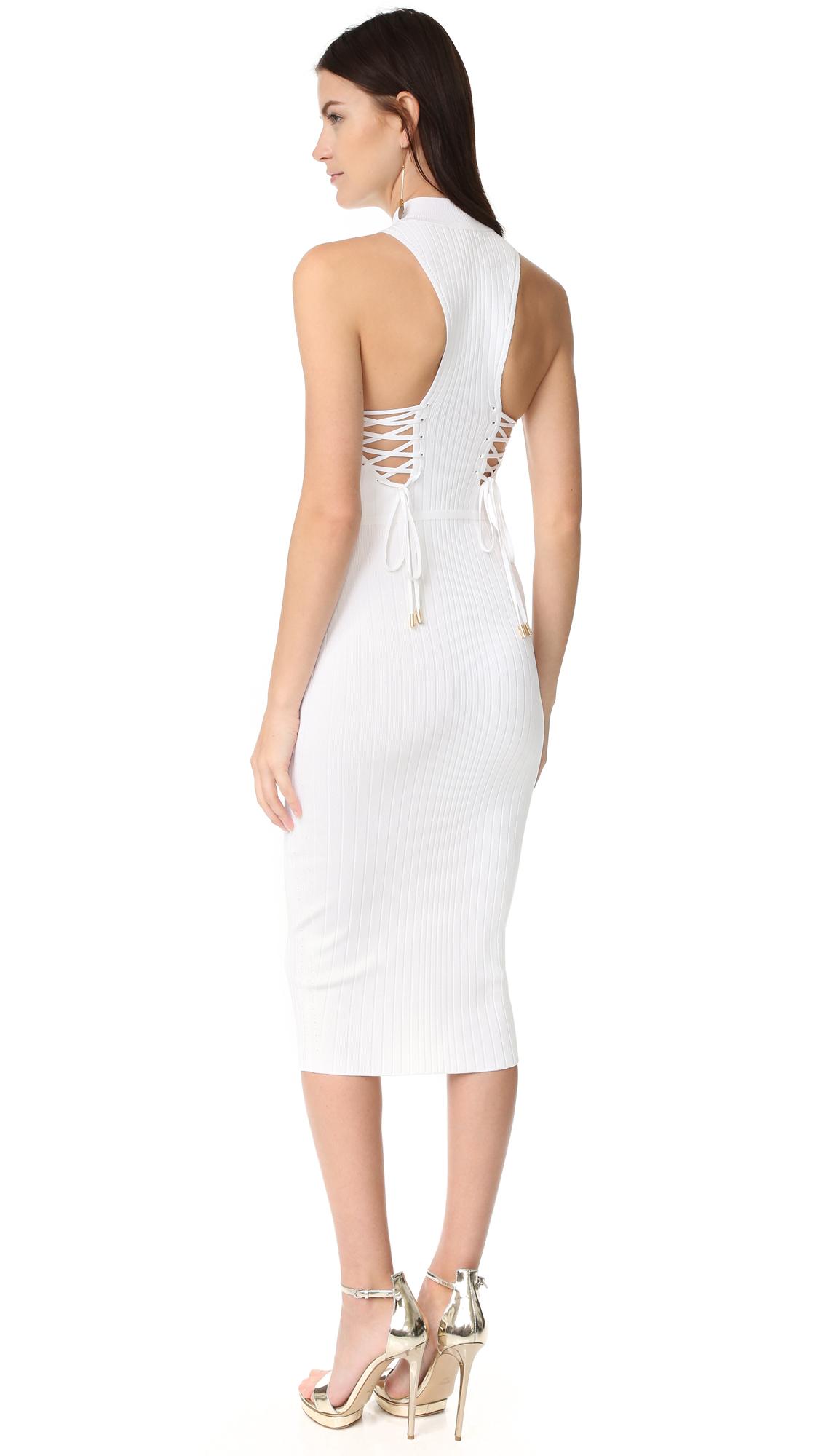 435138429d30 Cushnie Deep Racer Lace Up Dress | SHOPBOP