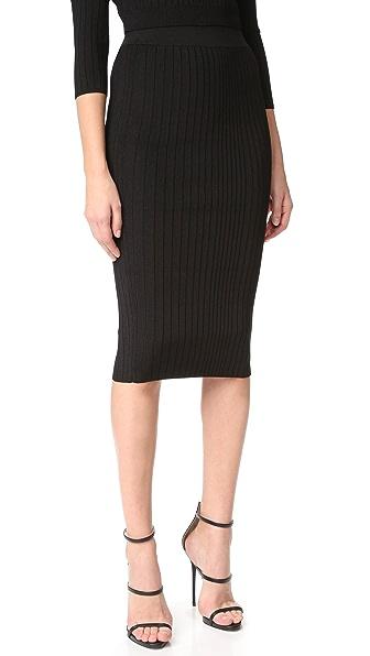 Cushnie Et Ochs Crisscross Waistband Pencil Skirt - Black
