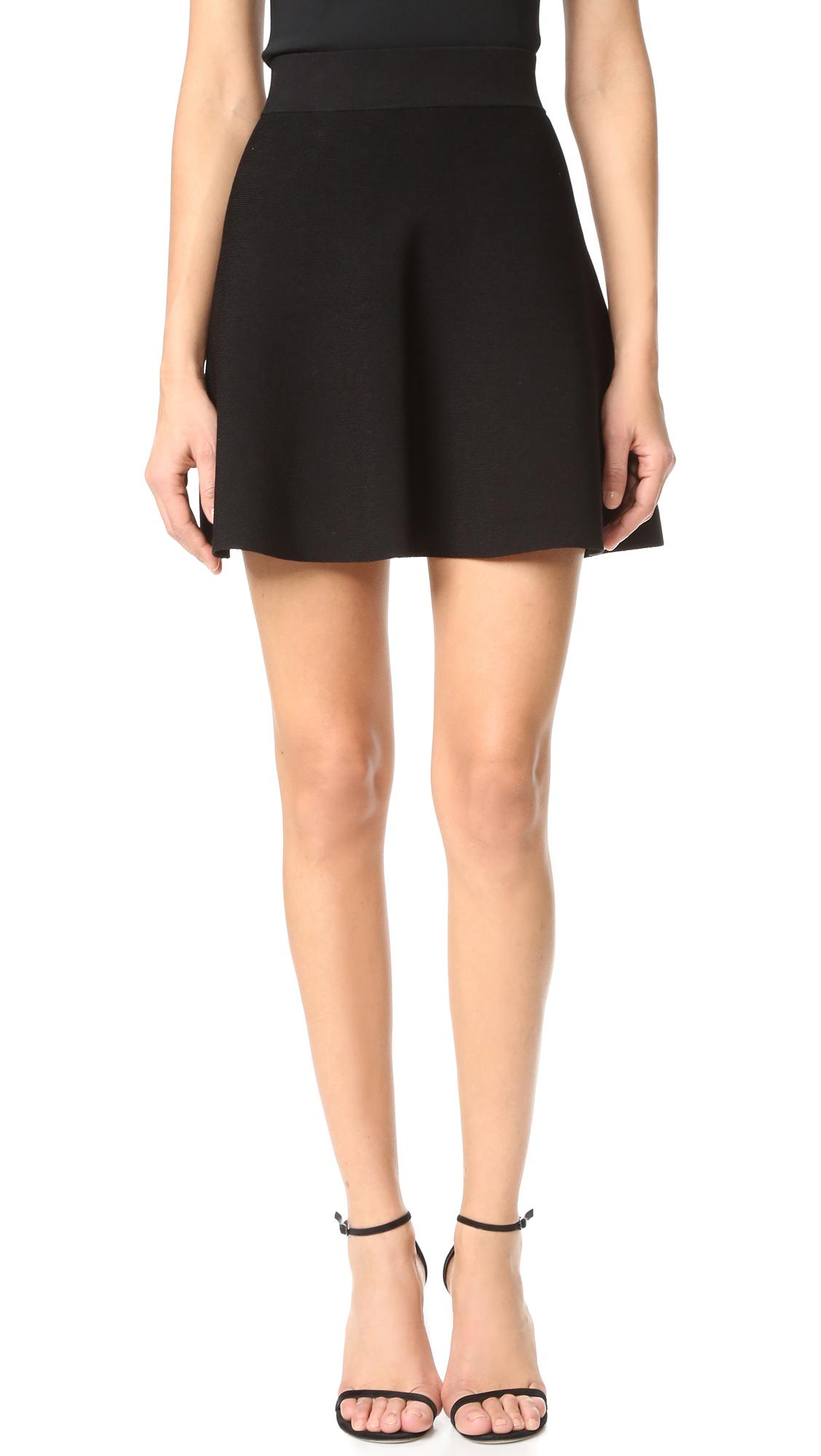 Cushnie Et Ochs Mini Circle Skirt - Black