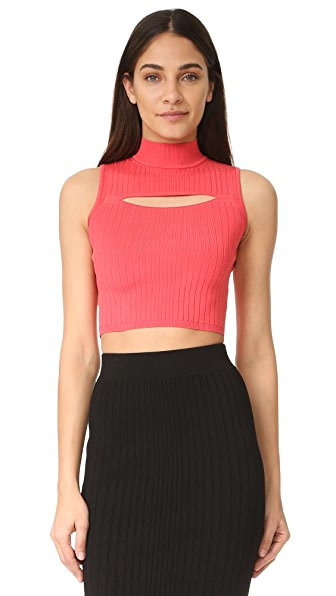 Cushnie Et Ochs Mock Sleeveless Top - Strawberry