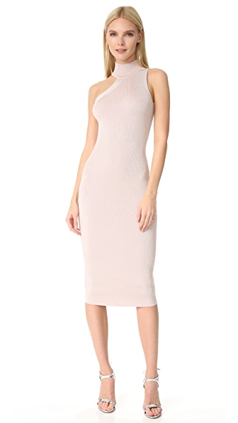 Cushnie Et Ochs One Shoulder Mock Neck Dress