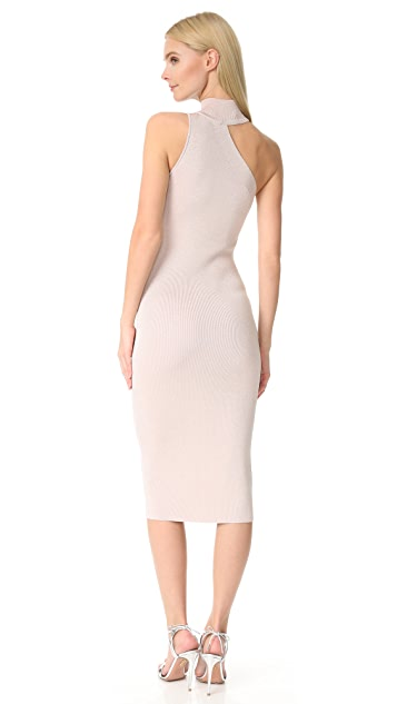 Cushnie Et Ochs One Shoulder Mock Neck Dress