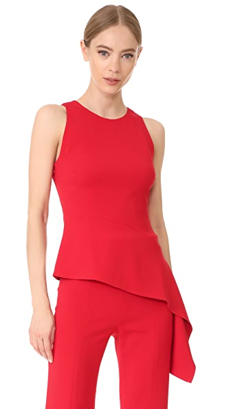 Cushnie Et Ochs Sleeveless Top with Asymmetrical Seam