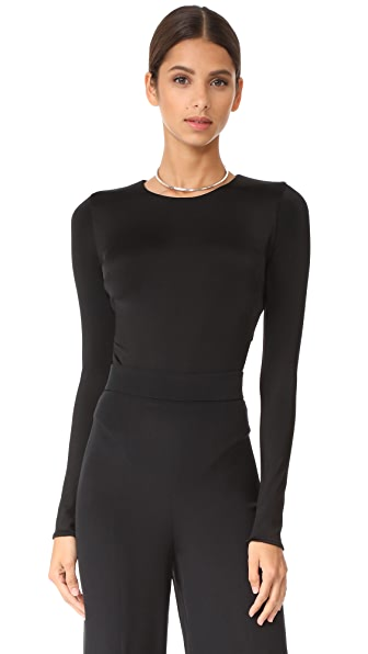 Cushnie Et Ochs Thong Bodysuit with Open Back - Black