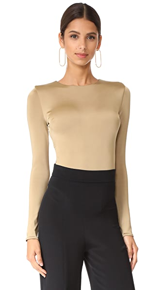 Cushnie Et Ochs Thong Bodysuit with Open Back