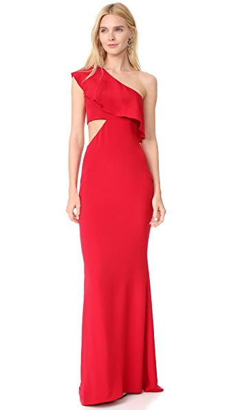 Cushnie Et Ochs One Shoulder Gown