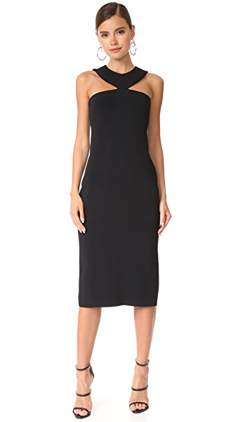 Cushnie Et Ochs Pencil Dress with Collar Neckline - Black
