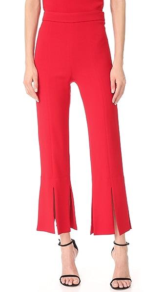 Cushnie Et Ochs Cropped Pants with Slits at Hem In Poppy