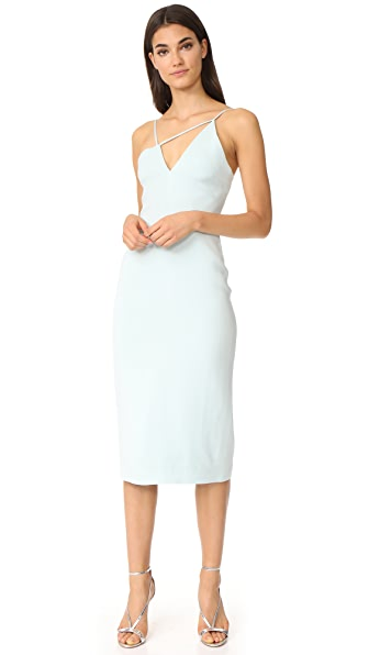 Cushnie Et Ochs Asymmetrical Strappy Dress - Ice