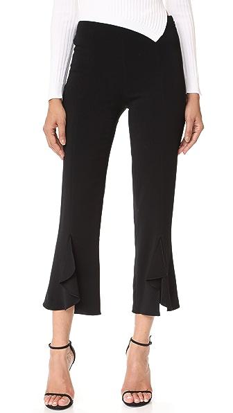 Cushnie Et Ochs Cascade Hem Pants In Black