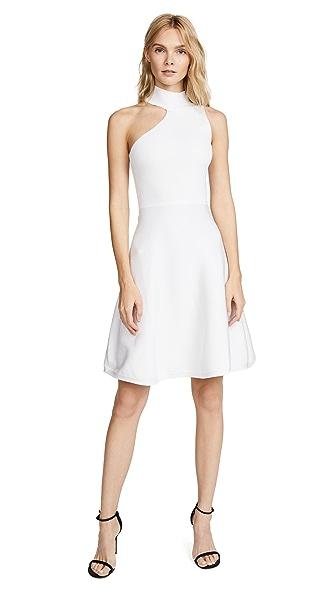 Cushnie Et Ochs Vika Mock Neck Dress In White