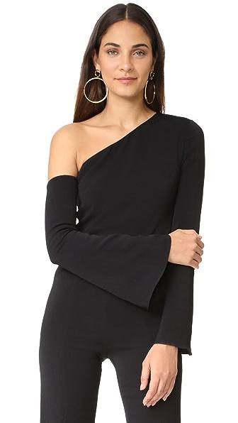 Cushnie Et Ochs Asymmetrical Off Shoulder Top In Black