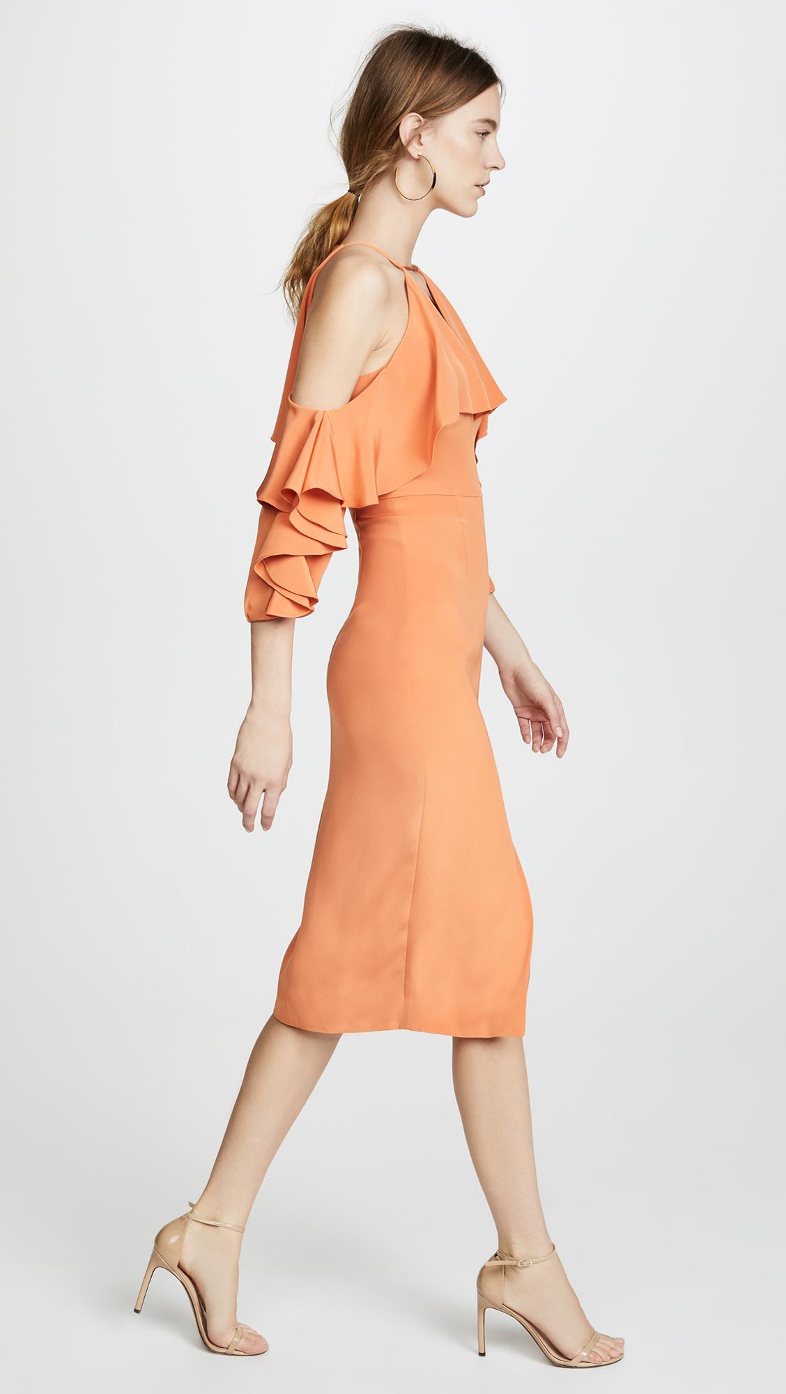 dd4b659e07b4 Cushnie Aura Cold Shoulder Pencil Dress with Halter Neck | SHOPBOP