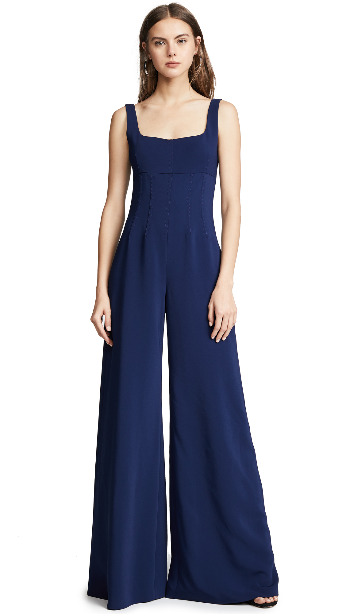Cushnie Celesta Sleeveless Wide Leg Jumpsuit