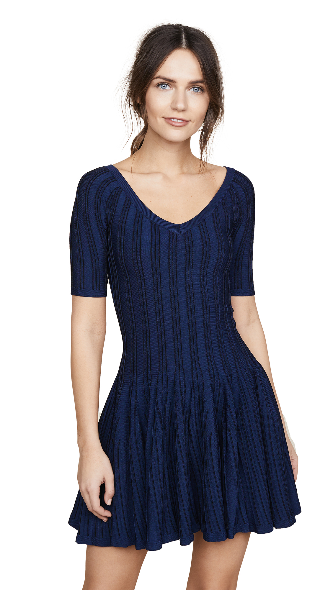 Cushnie Elizabetta Two Tone Knit Dress