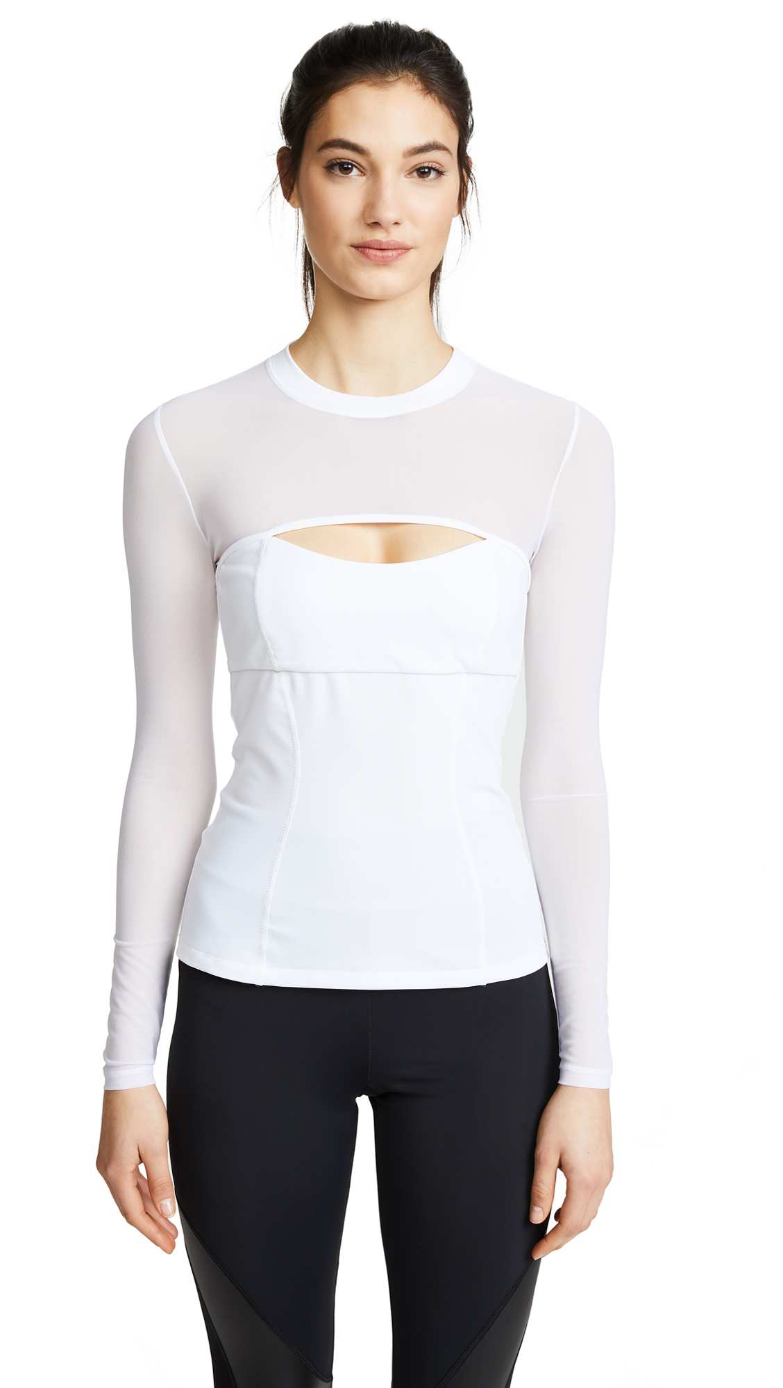 DOMINIQUE MESH CUTOUT TOP