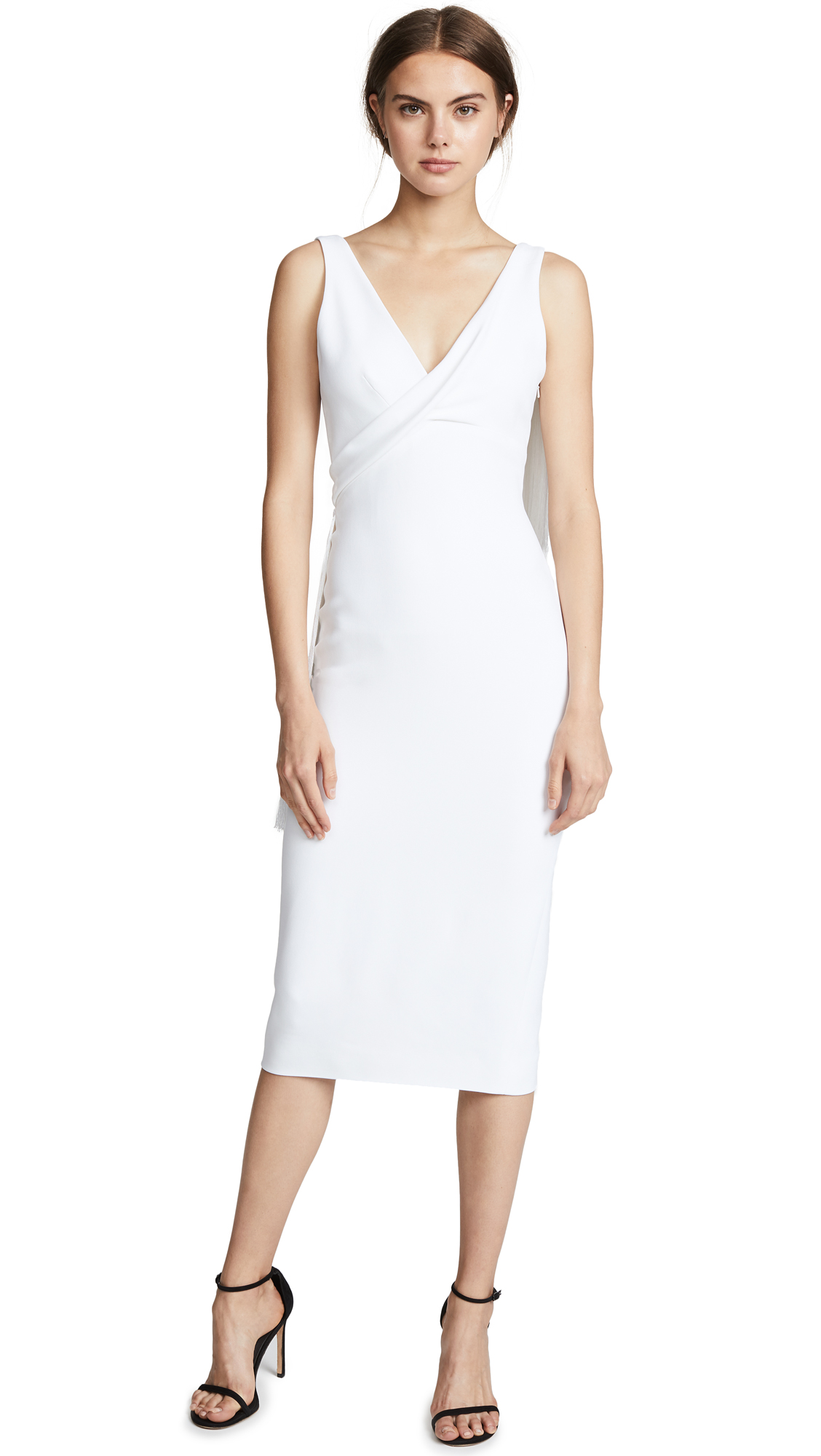 Cushnie Draped Fringe Pencil Dress