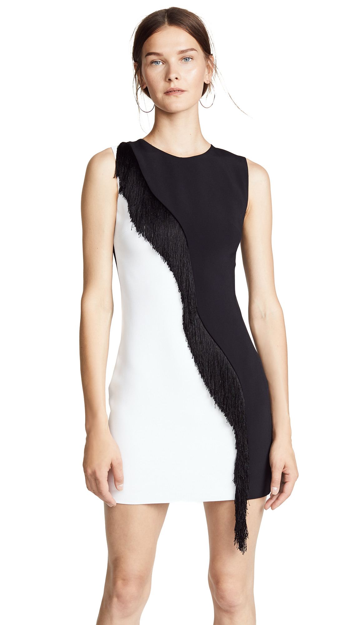 Cushnie Et Ochs Two-Tone Nisa Fringe Dress