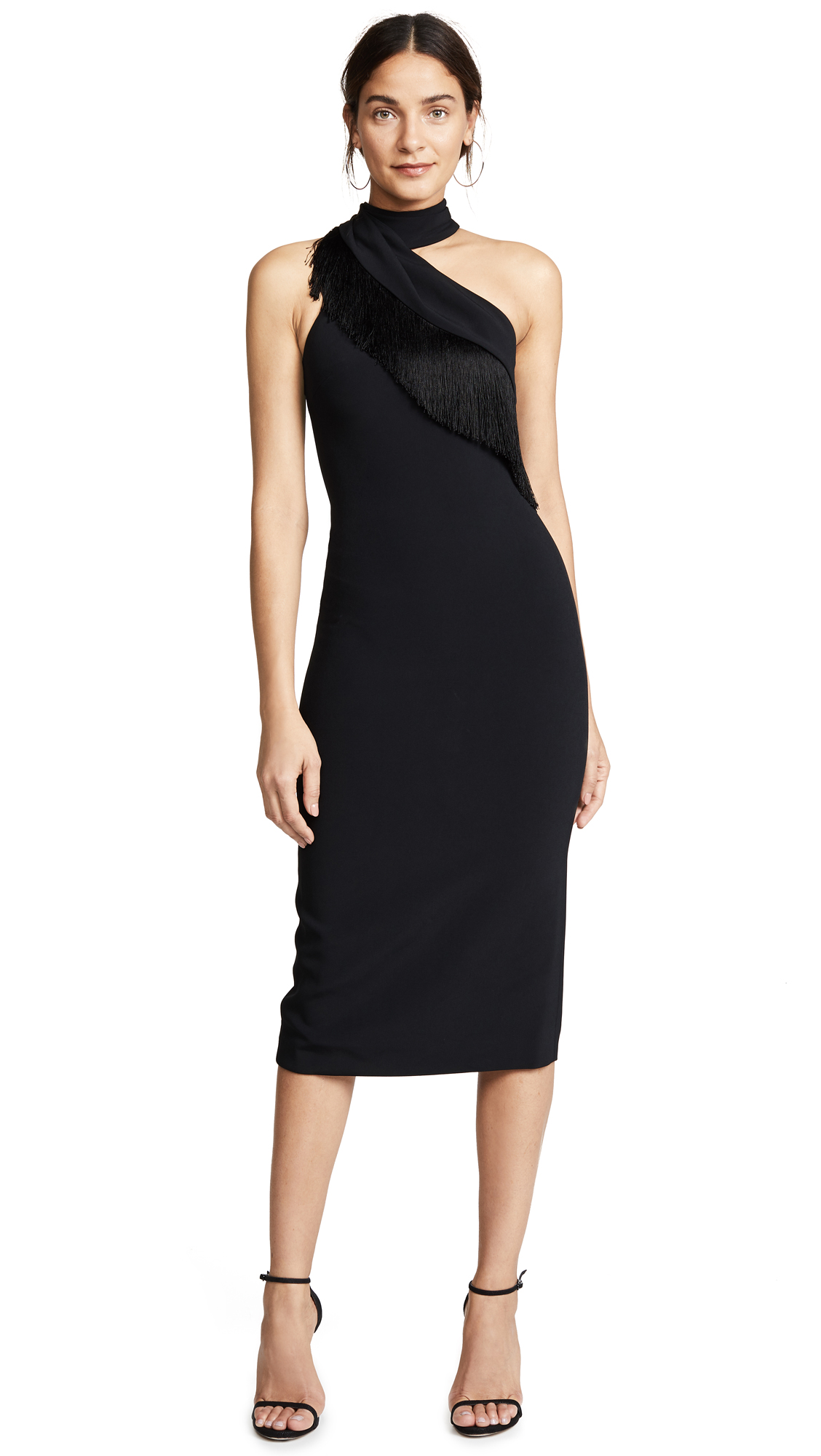 Cushnie Pencil Dress with Fringe