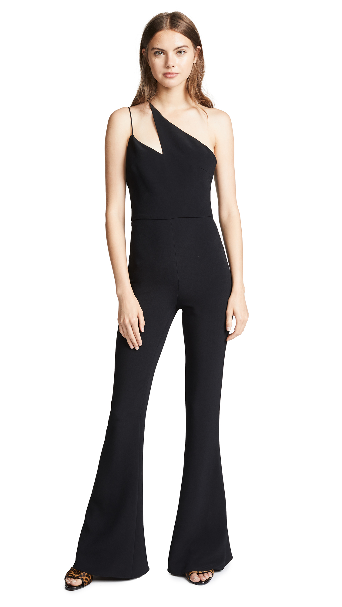 Cushnie Flared Sleeveless Jumpsuit