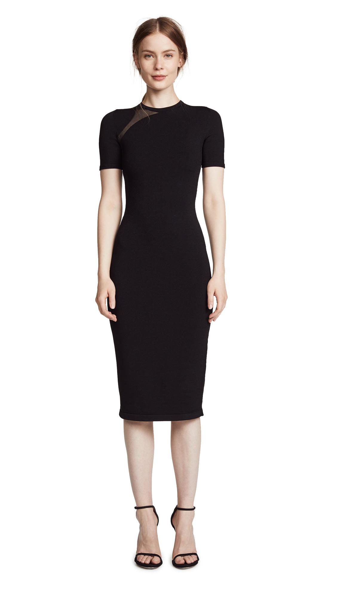 Cushnie Et Ochs Dress with Sheer Cutout In Black
