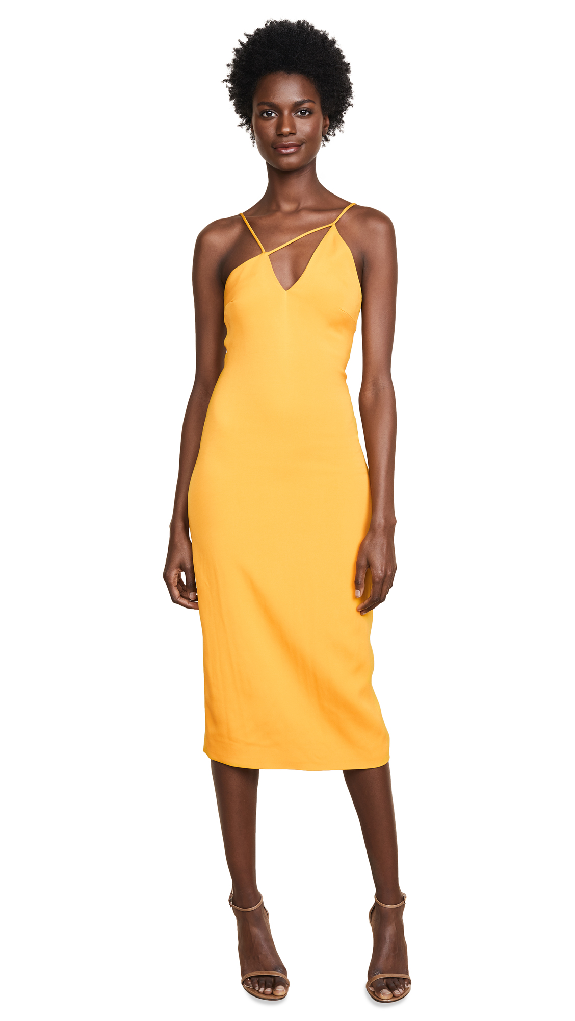 Cushnie Et Ochs Strappy Pencil Dress In Saffron